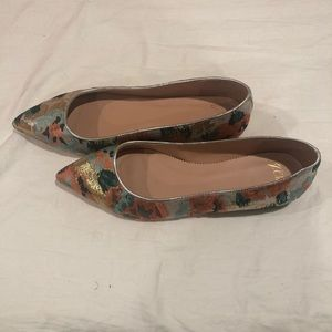 Never Worn J. Crew Pointed Toe Flats.
